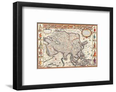 Antique Map, Asia, 1626