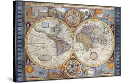 Antique Map, New Map of the World, 1626