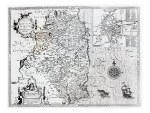 The County of Leinster with the City of Dublin Described, engraved by Jodocus Hondius by John Speed