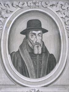 Oval Portrait of John Foxe, C1570 by John Sturt