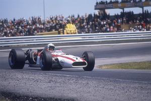 John Surtees Driving a Honda, Spanish Grand Prix, Jarama, 1968