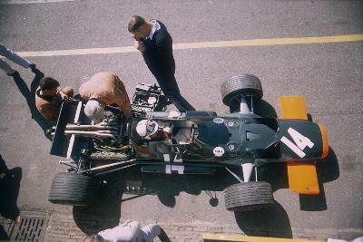 John Surtees in His Brm at the British Grand Prix, Silverstone, Northamptonshire, 1969--Photographic Print