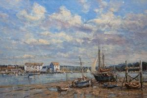 Boats on the Mud - Woodbridge, Suffolk, 2008 by John Sutton