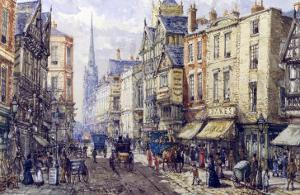 Eastgate Street, Chester, c.1895 by John Sutton