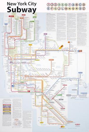 New York City Subway Map by John Tauranac