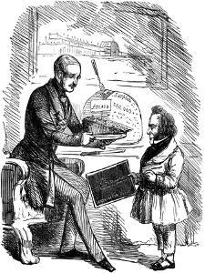 Albert, Prince Consort of Queen Victoria, and Joseph Paxton, 1851 by John Tenniel