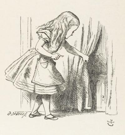 Alice Alice Draws Back the Curtain to Reveal a Little Door
