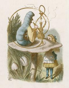 Alice and the Caterpillar by John Tenniel