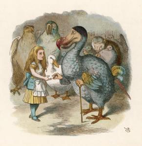 Alice and the Dodo by John Tenniel