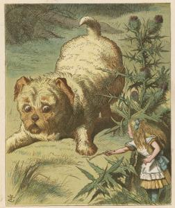 Alice and the Puppy by John Tenniel
