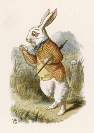 Alice and the White Rabbit by John Tenniel