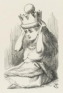 Alice Crowned as Queen Alice Puts on the Crown by John Tenniel