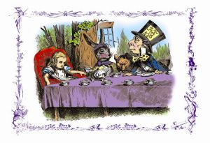 Alice in Wonderland: A Mad Tea Party by John Tenniel