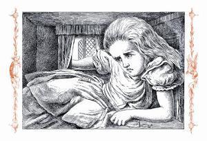 Alice In Wonderland Grows Large By John Tenniel