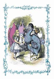 Alice in Wonderland: Dodo Gives Alice a Thimble by John Tenniel