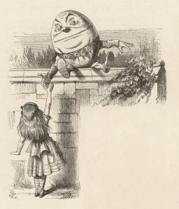 Alice Meets Humpty-Dumpty by John Tenniel