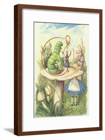 Alice Meets the Caterpillar, Illustration from Alice in Wonderland by Lewis Carroll