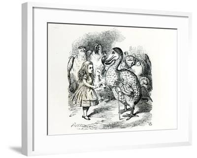 Alice Meets the Dodo, Illustration from Alice's Adventures in Wonderland, by Lewis Carroll, 1865
