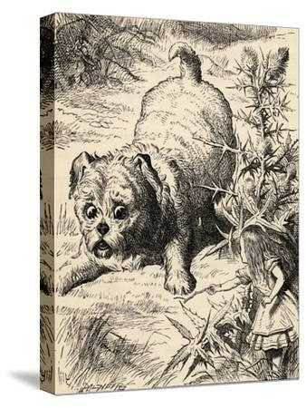 Alice Shrinks and Meets the Puppy, from 'Alice's Adventures in Wonderland' by Lewis Carroll,…