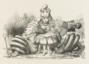 Alice with the Sleeping Queens by John Tenniel