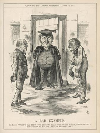 Bad Example, Disraeli and Gladstone at Loggerheads by John Tenniel