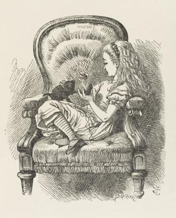 Black Kitten Alice and the Black Kitten by John Tenniel