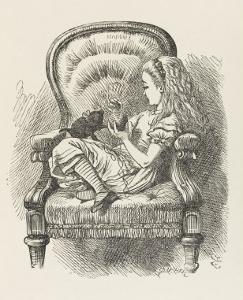 Black Kitten Alice and the Black Kitten by John Tenniel