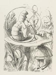 Caterpillar Alice and the Caterpillar by John Tenniel