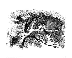 Cheshire Cat in a Tree by John Tenniel