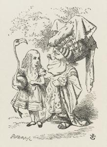 Croquet Alice and the Duchess by John Tenniel