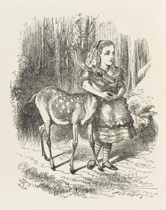 Fawn Alice and the Fawn by John Tenniel
