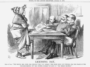 Licensing Day, 1867 by John Tenniel