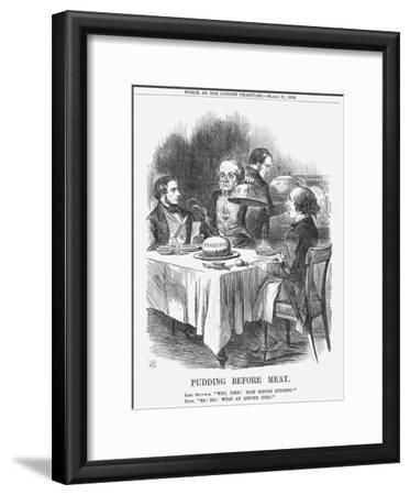 Pudding before Meat, 1866