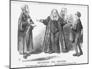Reversing the Proverb, 1864 by John Tenniel
