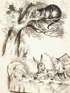 Scene from the Mad Hatter's Tea Party, C.1865 by John Tenniel