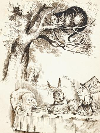 Scene from the Mad Hatter's Tea Party, C.1865