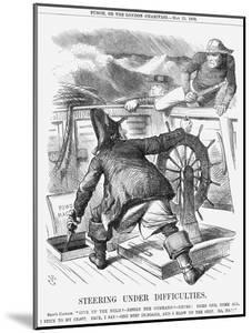 Steering under Difficulties, 1868 by John Tenniel