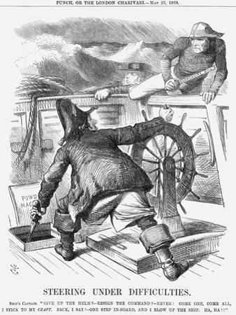 Steering under Difficulties, 1868 by John Tenniel