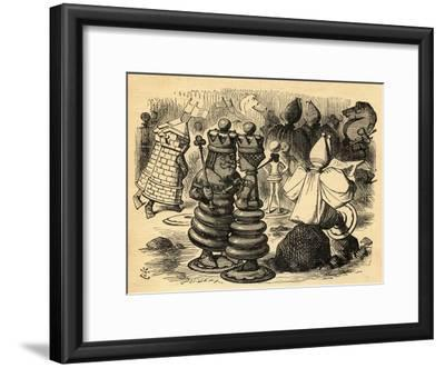 The Chess Players, Illustration from 'Through the Looking Glass' by Lewis Carroll (1832-98) First…