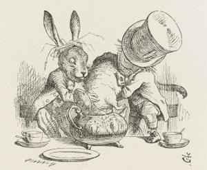 The Hatter's Mad Tea Party the Hatter and the Hare Put the Dormouse in the Tea-Pot by John Tenniel