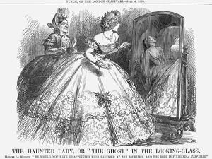 The Haunted Lady, or the Ghost in the Looking-Glass, 1863 by John Tenniel