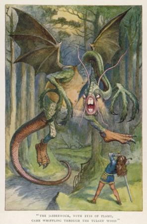 The Jabberwock with Eye of Flame Came Whiffling Through the Tulgey Wood