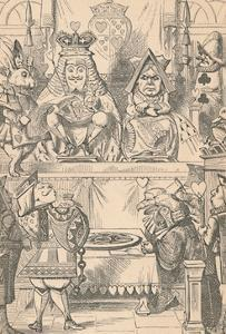 'The King and Queen of Hearts in Court', 1889 by John Tenniel