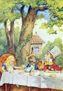 The Mad Hatter's Tea Party, Illustration from Alice in Wonderland by Lewis Carroll by John Tenniel