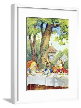 The Mad Hatter's Tea Party, Illustration from Alice in Wonderland by Lewis Carroll