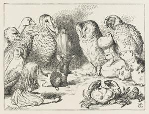The Mouse Holds Court by John Tenniel