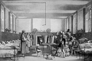 The Royal Visit to Brompton Hospital, 1850s by John Tenniel