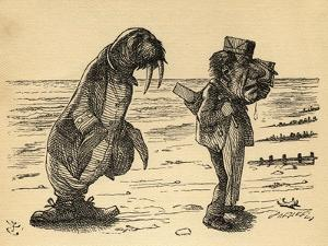 The Walrus and the Carpenter, Illustration from 'Through the Looking Glass' by Lewis Carroll… by John Tenniel