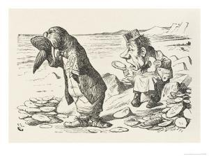 The Walrus and the Carpenter the Walrus Eats the Last Oyster by John Tenniel