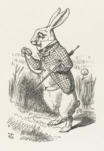 The White Rabbit Checks His Watch by John Tenniel